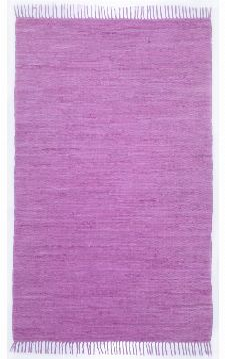 Bild: Teppich Läufer Happy Cotton Uni (Lila; 250 x 70 cm)