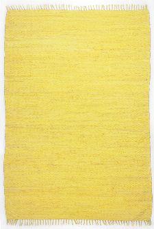 Bild: Webteppich Happy Cotton Uni (Gelb; 140 x 70 cm)