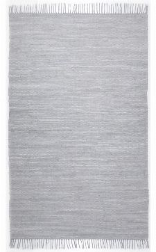 Bild: Webteppich Happy Cotton Uni (Grau; 60 x 40 cm)
