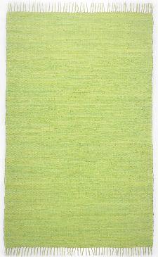 Bild: Webteppich Happy Cotton Uni (Grün; 60 x 40 cm)