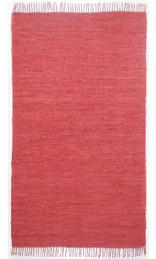 Bild: Webteppich Happy Cotton Uni (Rot; 180 x 120 cm)