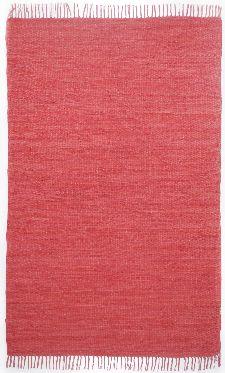 Bild: Webteppich Happy Cotton Uni (Rot; 60 x 40 cm)