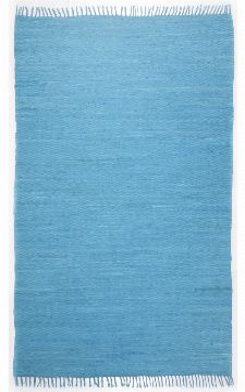 Bild: Webteppich Happy Cotton Uni (Türkis; 230 x 160 cm)