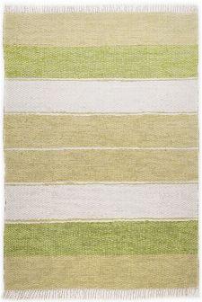 Bild: Webteppich Happy Design Stripes (Grün; 230 x 160 cm)