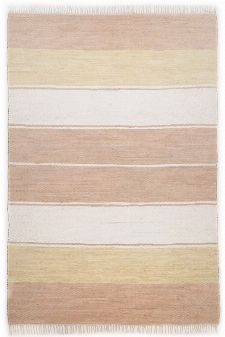 Bild: Webteppich Happy Design Stripes (Beige; 120 x 60 cm)