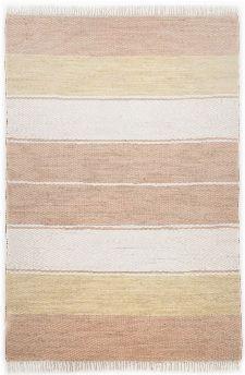 Bild: Webteppich Happy Design Stripes (Beige; 160 x 90 cm)