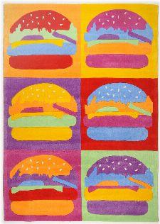 Bild: Kinderteppich Menorca Burger (Bunt; 80 x 230 cm)