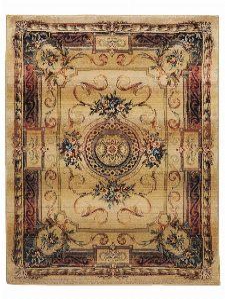 Bild: Bordürenteppich Gabiro Des.856 (Beige; 240 x 340 cm)