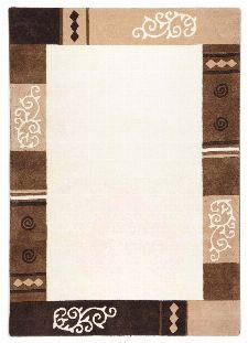 Bild: Schurwollteppich Ambadi Bordüre (Beige; 90 x 160 cm)
