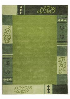 Bild: Schurwollteppich Ambadi Bordüre (Grün; 70 x 620 cm)