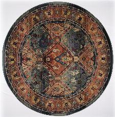 Bild: Teppich Gabiro 13 - rund (Grün; 120 cm rund)