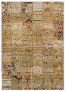 Bild: Patchwork Teppich Gabiro Des.5504 (Beige; 68 x 135 cm)
