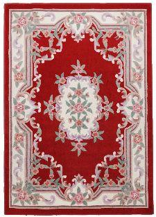 Bild: Aubusson Design Teppich Ming 501 (Rot; 60 x 90 cm)