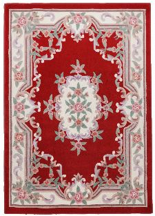 Bild: Aubusson Design Teppich Ming 501 (Rot; 190 x 290 cm)