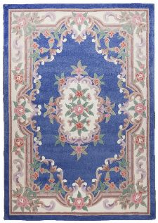 Bild: Aubusson Design Teppich Ming 501 (Blau; 60 x 90 cm)