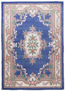 Bild: Aubusson Design Teppich Ming 501 (Blau; 120 x 180 cm)