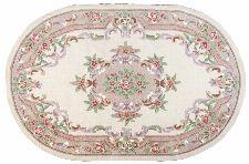 Bild: Ovaler Aubusson Design Teppich Ming 501 (Beige; 120 x 170 cm)