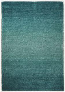 Bild: Schurwollteppich Wool Star Ombre (Türkis; 90 x 160 cm)