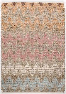 Bild: Teppich Smooth Comfort - Pastel Zigzag (65 x 135 cm)