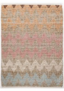 Bild: Teppich Smooth Comfort - Pastel Zigzag (160 x 230 cm)