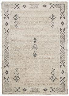 Bild: Royal Berber Teppich Bordüre - meliert (Beige; 90 x 160 cm)