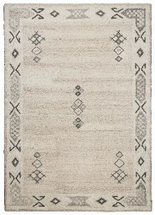 Bild: Royal Berber Teppich Bordüre - meliert (Beige; 140 x 200 cm)