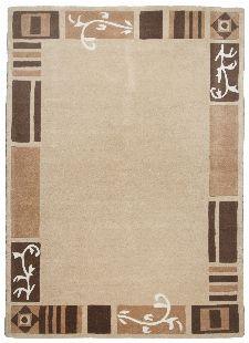 Bild: Bordürenteppich Hawai FE7098 (Beige; 90 x 160 cm)