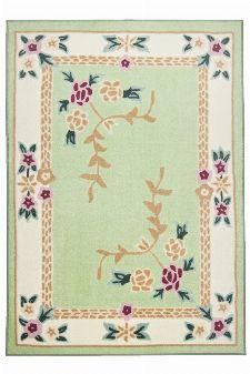 Bild: Aubusson Design Teppich Versailles 8068 (Grün; 50 x 80 cm)
