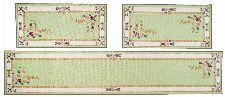 Bild: Aubusson Design Bettumrandung Versailles 8068 (Grün; 67 x 600 cm)