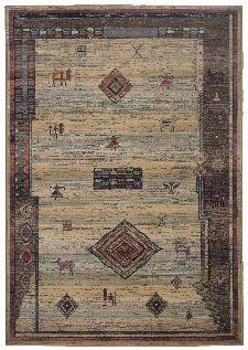 Bild: Teppich Gabiro Des.002 Gabbeh Optik (Beige; 60 x 90 cm)
