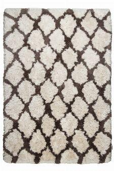 Bild: Berber Teppich - Flocatic Pattern Lines (Braun; 70 x 140 cm)