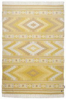 Bild: Ethno Teppich - Kelim Colors I (Gelb; 65 x 135 cm)
