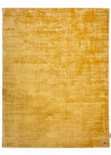 Bild: Viskose Teppich - Shine Uni (Gelb; 140 x 200 cm)