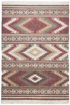 Bild: Ethno Teppich - Kelim Colors I (Rot; 140 x 200 cm)
