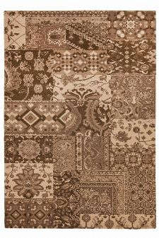 Bild: Patchwork Teppich Timeless 003 (Braun; 160 x 230 cm)