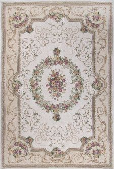 Bild: Klassischer Bordürenteppich Florentina (Beige; 60 x 90 cm)