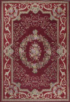 Bild: Klassischer Bordürenteppich Florentina (Rot; 70 x 120 cm)