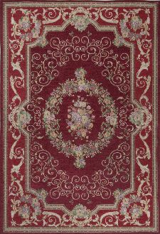 Bild: Klassischer Bordürenteppich Florentina (Rot; 160 x 230 cm)