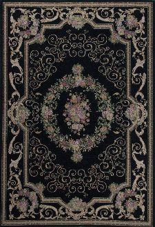 Bild: Klassischer Bordürenteppich Florentina (Schwarz; 60 x 90 cm)