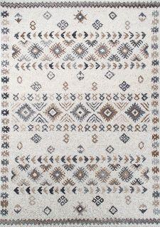 Bild: Royal Berber Teppich - Streifenmuster (Weiß/Beige; 60 x 90 cm)