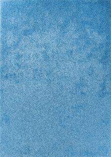 Bild: Hochflor Teppich - Soft Uni (Light Blue; 65 x 135 cm)