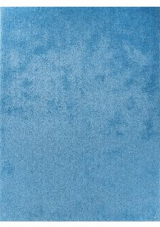 Bild: Hochflor Teppich - Soft Uni (Light Blue; 85 x 155 cm)