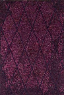 Bild: Vintage Teppich - Fine Lines (Purple; 80 x 150 cm)