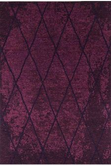Bild: Vintage Teppich - Fine Lines (Purple; 190 x 290 cm)