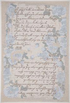 Bild: Romantischer Teppich Flomi Paris (Blau; 60 x 90 cm)