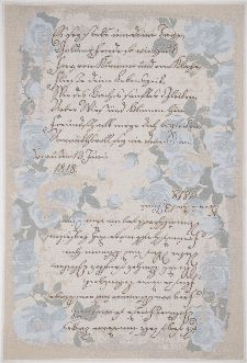 Bild: Romantischer Teppich Flomi Paris (Blau; 200 x 290 cm)