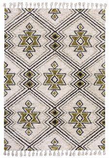 Bild: Gino Falcone Fransen Teppich Vittoria (Grün/Beige; 190 x 280 cm)
