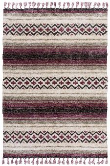 Bild: Gino Falcone Teppich Vittoria - Stripes (Berry; 160 x 230 cm)