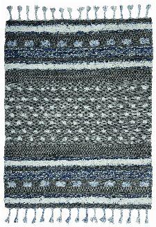 Bild: Tom Tailor Teppich Funky Nature (Grau/Blau; 135 x 65 cm)