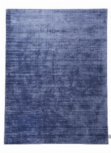 Bild: TOM TAILOR Viskose Teppich - Shine Uni (Blau; 155 x 85 cm)